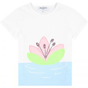Simonetta Girl's Abstract Flower T-Shirt