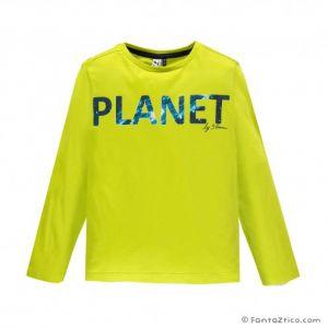 3Pommes Boys Neon Long Sleeved  Cotton T-Shirt