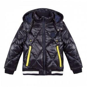3Pommes Boys Dark Navy Fleeced-Lined Padded Coat