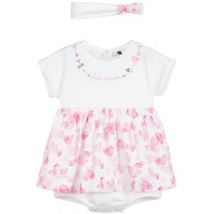 3Pommes Baby 'Future Princess'Dress & Headband Set