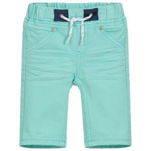3Pommes Boys Green Cotton Shorts