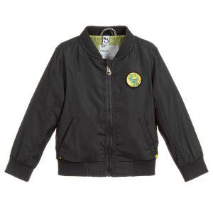 3Pommes Boys Dark Grey Bomber Jacket