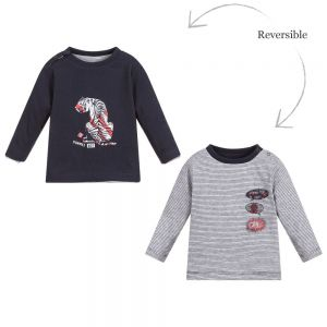 3Pommes Boys Reversible Cotton Top