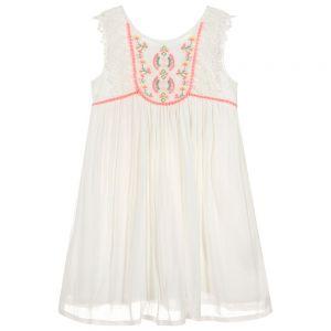 3Pommes Girls Ivory Viscose Dress