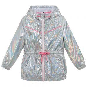 3Pommes Girls Metallic Silver Coat
