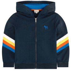 Paul Smith Junior Boys Blue 'Alim' Cotton Zip-Up Hoodie