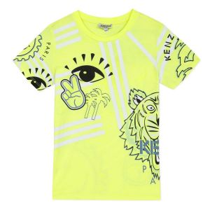 Kenzo Kids Boys Neon Yellow T-Shirt