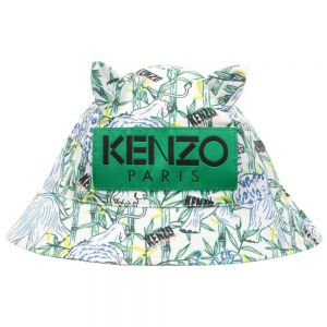 Kenzo Kids Green Cotton Baby Hat