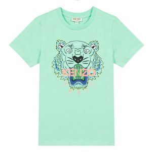 Kenzo Kids Boys Green Iconic Tiger T-Shirt