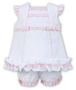 Sarah Louise White and Pink Dress Set