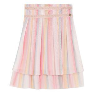 Lili Gaufrette Pink Tulle Rainbow Skirt