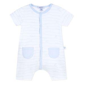 Absorba Baby Boy's Pale Blue Striped Nursery Shortie