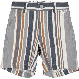 Il Gufo Boys Grey Striped Grey Linen Shorts