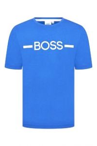 BOSS Kidswear Older Boys Royal Blue Cotton Logo T-Shirt
