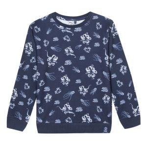3Pommes Boys Blue Sea Creature Sweatshirt