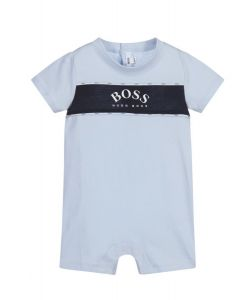 BOSS Kidswear Baby Boys Pale Blue Logo Shortie