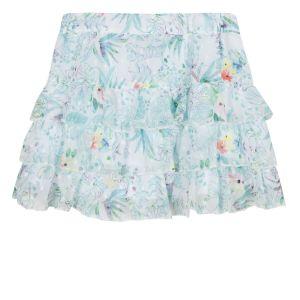 3Pommes Girls Turquoise Green Chiffon Skirt