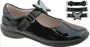 Lelli Kelly Angel Black School Shoes (F Fitting)
