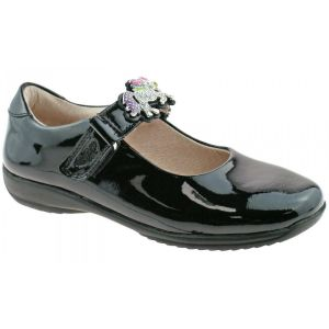 Lelli Kelly Blossom Black Patent Interchangeable School Shoes (G Fitting)