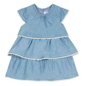 Absorba Baby Girl's Blue Chambray Dress
