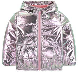 Kenzo Kids Girls Pink Metallic Padded Coat