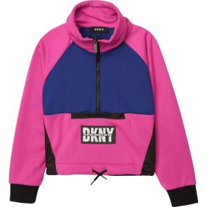 DKNY Pink & Blue Logo Sweatshirt