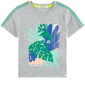 Billybandit Boys Printed Cotton Grey T-Shirt