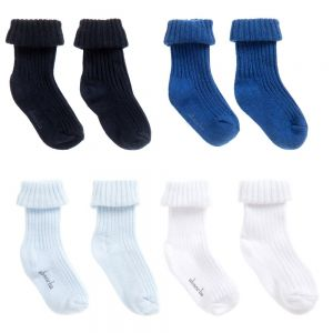 Absorba Baby Boy's Sock Set (4 Pair Pack)