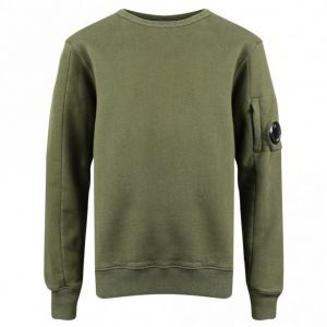 C.P. Company Boys Khaki Lens Plain Sweatshirt