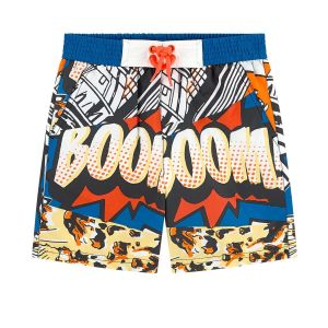 Billybandit Blue Comic Print Swim Shorts