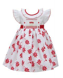 Pretty Originals White & Red Dress