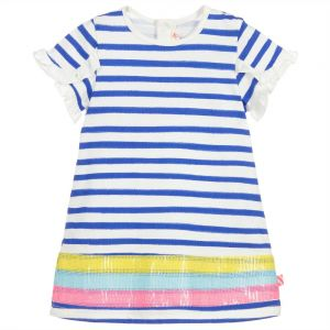 Billieblush Baby Girl's Blue Striped Cotton Dress
