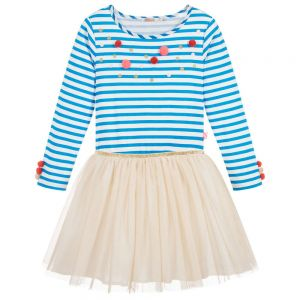 BILLIEBLUSH Girls striped Cotton & Tulle Dress