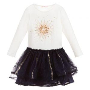 BILLIEBLUSH Girls Cotton & Tulle Dress