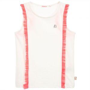 Billieblush Girls Ivory Sleeveless Vest T-Shirt
