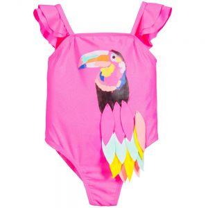 Girls Billie Blush Toucan Swimsuit