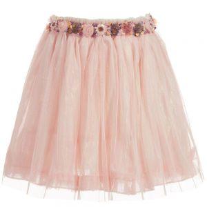 Billieblush Girls Sparkly Pink Tulle Skirt