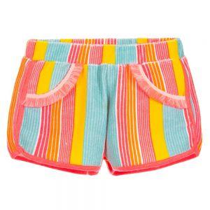 Billieblush Girls Striped Towelling Shorts