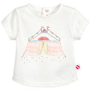Girls White Billie Blush Cotton T-Shirt