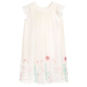 Billieblush Older Girls Ivory Embroidered Tulle Dress