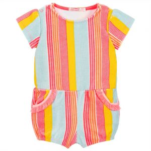 Billieblush Striped Towelling Playsuit