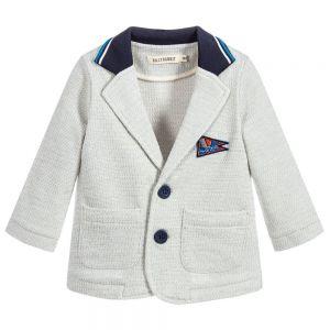 Billybandit Boy's Blue Cotton Jersey Jacket