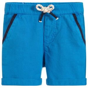 Billybandit Boy's Blue Cotton Shorts