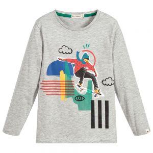 BILLYBANDIT Boys Grey Cotton Skateboard T-Shirt