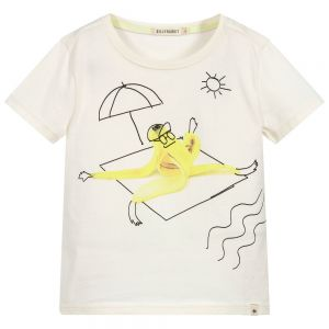 Billybandit Boys Ivory Cotton Banana T-Shirt