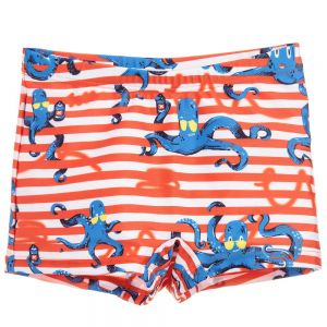 Billybandit Boy's Orange Stripe Swim Trunks
