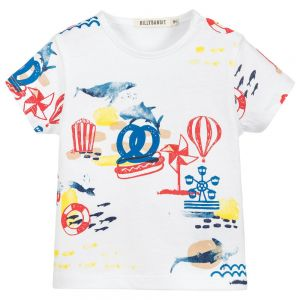 Billybandit Boy's White T-Shirt