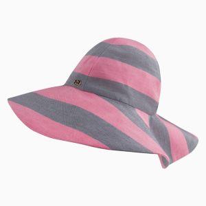 Tartine et Chocolat Pink And Grey Wide Brimmed Hat