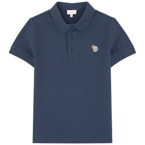 Paul Smith Junior Boys Navy Blue 'Ridley Per' Piqué Polo Shirt