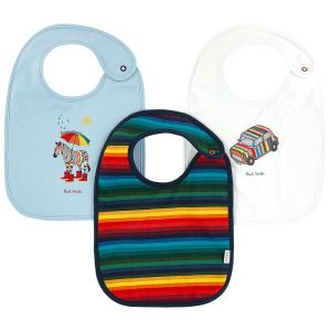 Paul Smith Junior 3 Piece Baby Bib Gift Set